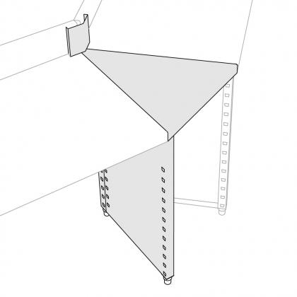 Plan de travail angle extérieur - 15°, 30°, 45°, 90°
