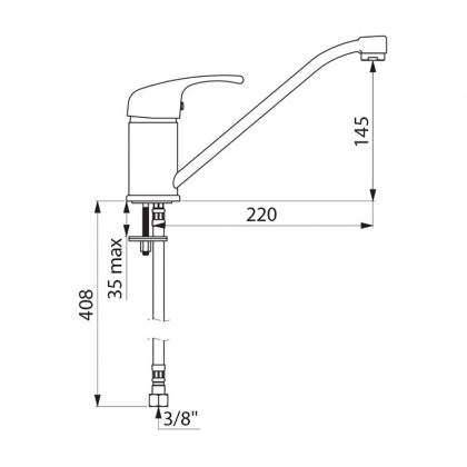 Mitigeur haut - h170mm