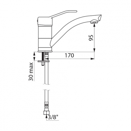 Mitigeur bas - h190mm