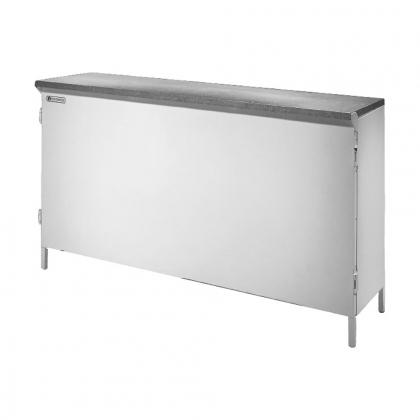 Comptoir pliant acier galvanisé 1604x426x1031 CODIGEL
