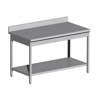 Table adossée inox sur mesure