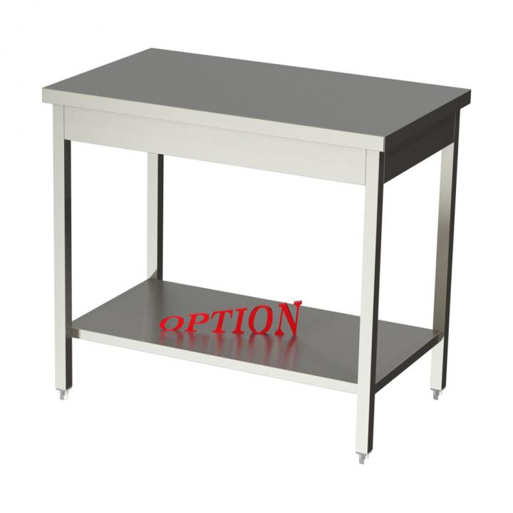 Table centrale inox