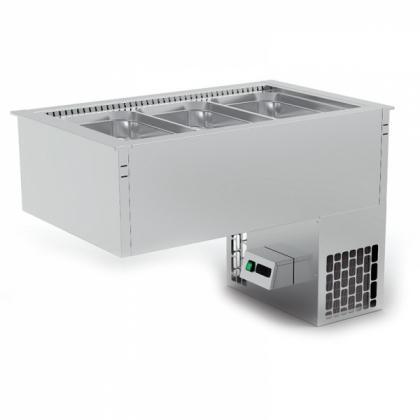 Cuve froide avec groupe incorporé froid ventilé