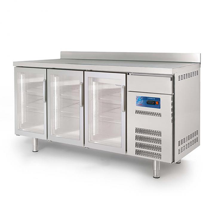 Arrière-bar réfrigéré 540L portes vitrées CORECO