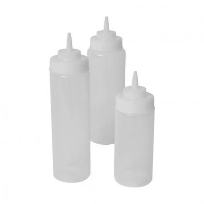 Squeeze bottle en plastique souple transparent 230 ml