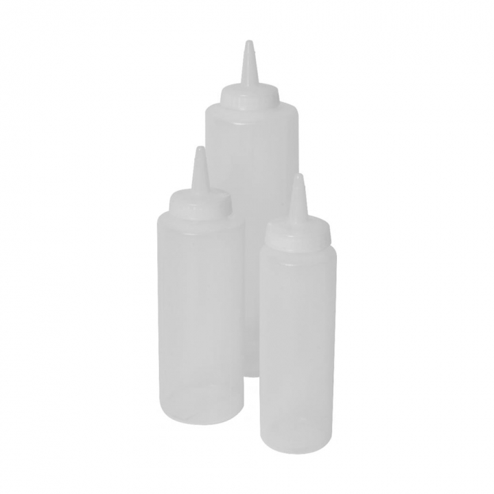 Squeeze bottle en plastique souple transparent 350 ml