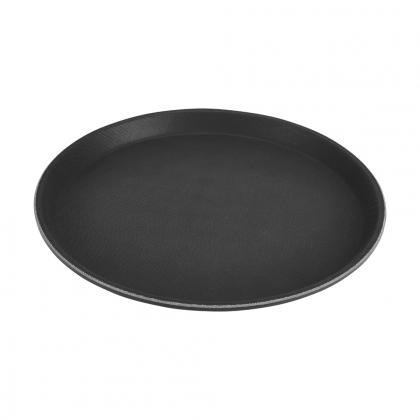 Plateau rond noir en Fibre de verre 35.5cm