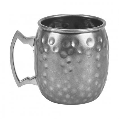 Barrel Mug martelée 400 ml en inox finition mat