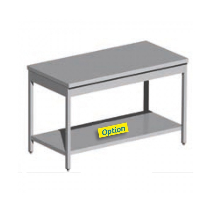 Table centrale inox 700mm