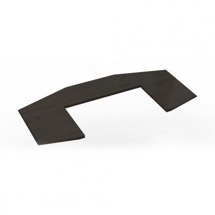 Comptoir Dandy octogonal en Châtaignier teinté noir