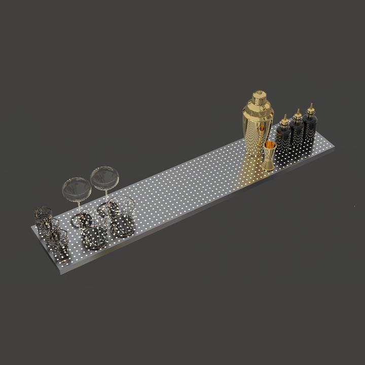 Grille de surpiste bar mobile lumineuse