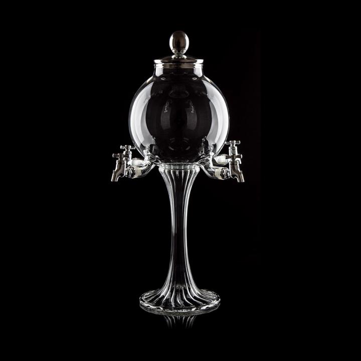 Fontaine à Absinthe H 43 cm en verre soufflé 2000 ml, 4 robinets