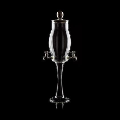 Fontaine à Absinthe H 41 cm en verre soufflé 800 ml, 2 robinets