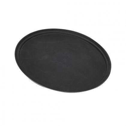 Plateau de service ovale noir 69 cm x 57 cm