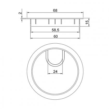 Passe-câble inox