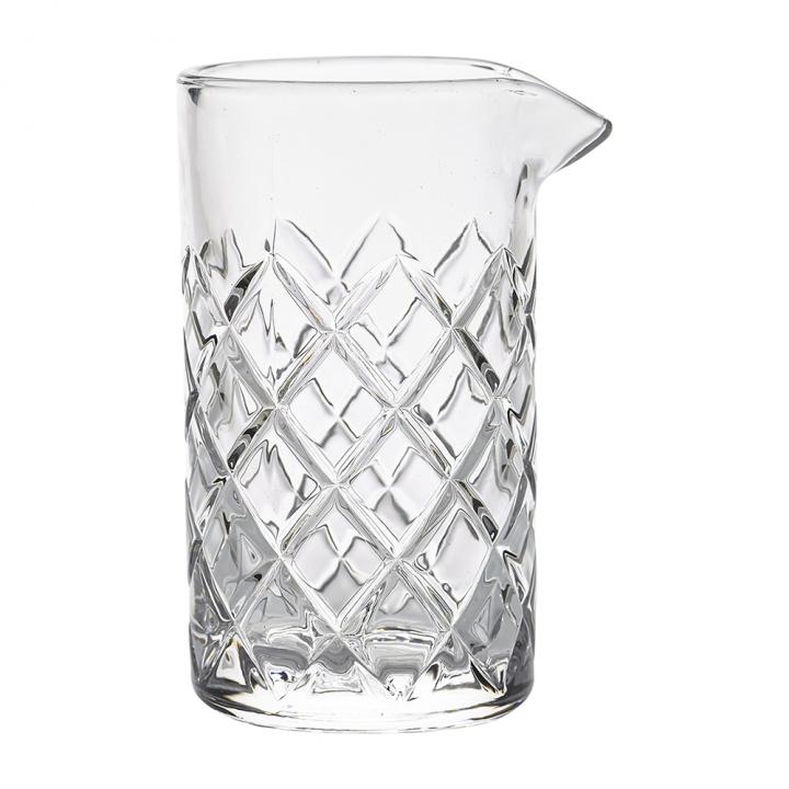 Verre à mélange 800 ml en verre  ciselé