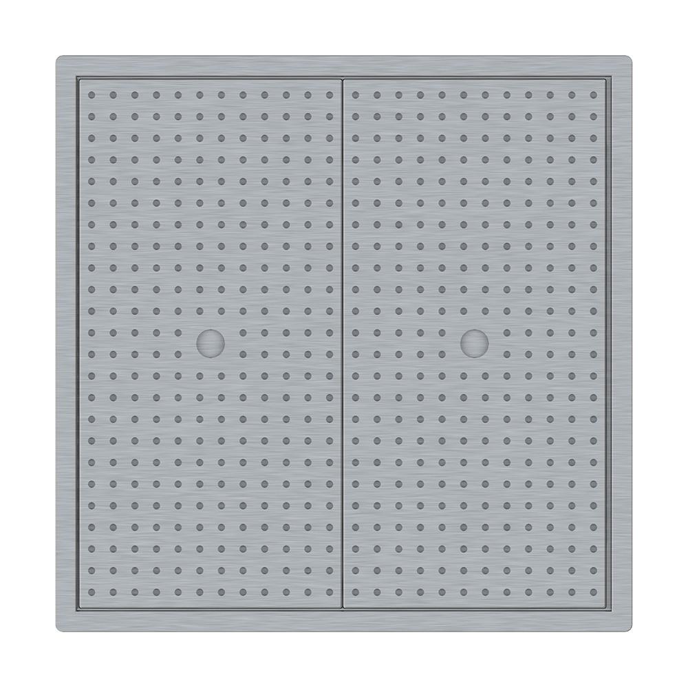 Timbale en métal émaillé blanc bordure bleue 400ml