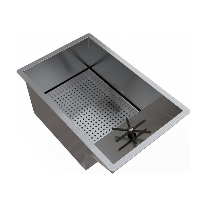 Bloc évier et rince verre à encastrer 31x48cm