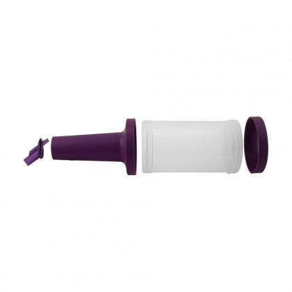 Store n pour débit rapide 1L plastique transparent, bec, col et bouchon violets