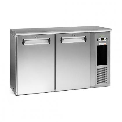 Arrière bar réfrigéré 364 L, 2 portes inox, Ecoline