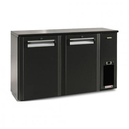 Arrière bar réfrigéré 364 L, 2 portes anthracites, Ecoline