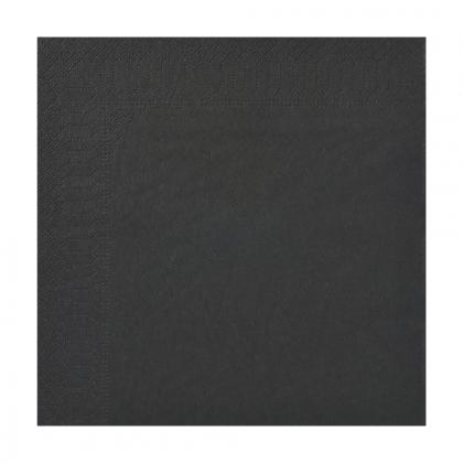 Serviette à cocktail noire 20 x 20 cm - Carton de 1 800