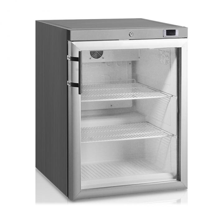 Mini armoire-congélateur 145 L inox porte vitrée, Crystal Line