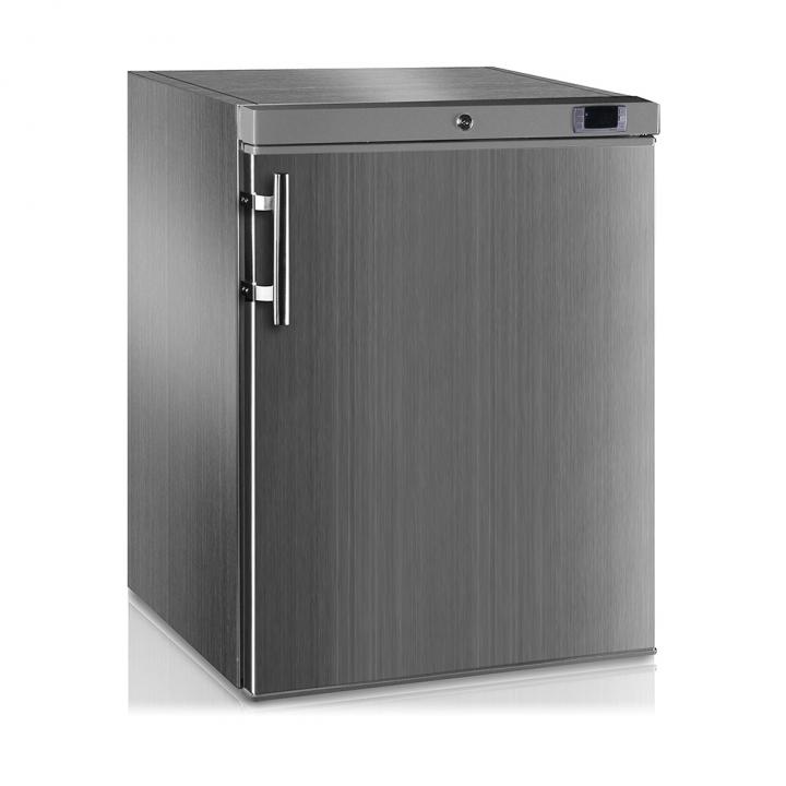 Mini armoire-congélateur 145 L inox porte pleine, Crystal Line