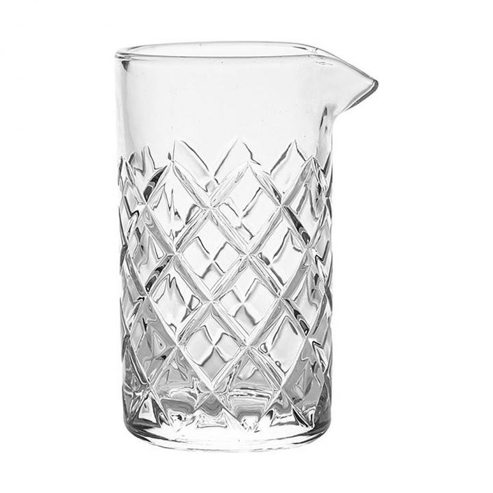 Verre à mélange 500 ml en verre ciselé
