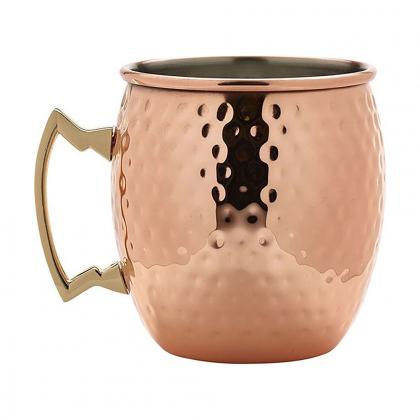 Barrel Mug martelée finition cuivre 550 ml
