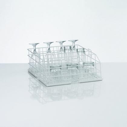 Panier à verres rilsanisés, 4 rangées, taille M, Winterhalter