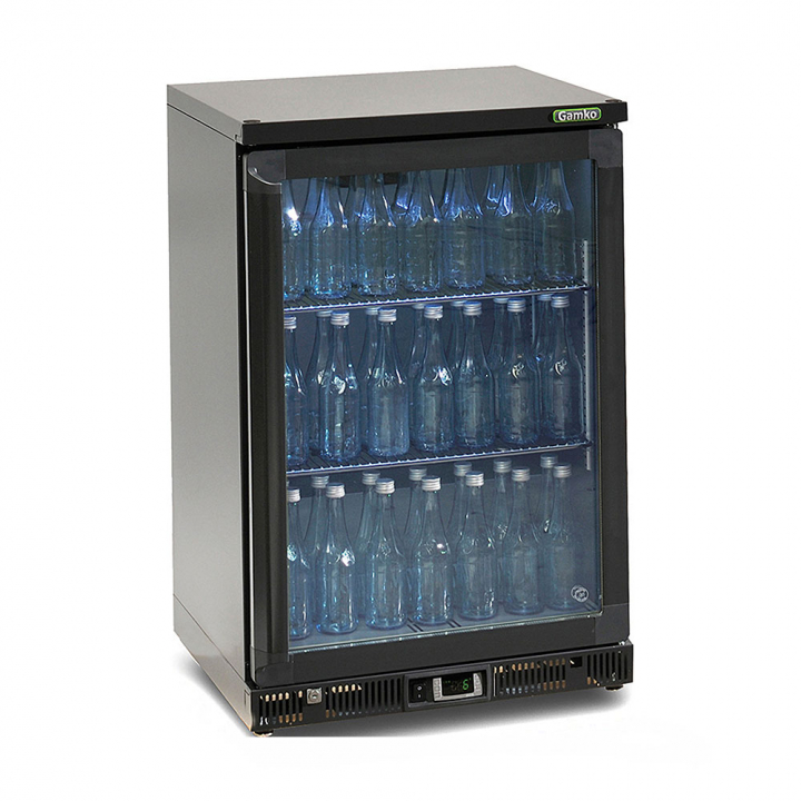 Vitrine réfrigérée basse 140 L, 1 porte vitrée anthracite, Maxiglass