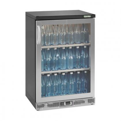 Vitrine réfrigérée basse 140 L, 1 porte vitrée inox, Maxiglass
