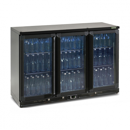 Vitrine réfrigérée basse 315 L, 3 portes vitrées anthracite, Maxiglass
