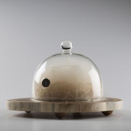 Cloche ronde en Pyrex (avec valve) D. 18 CM