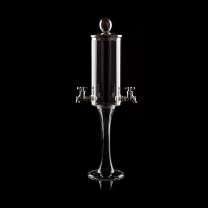 """Fontaine à Absinthe H 40 cm en verre soufflé 600 ml """"Nepeta trio"""", 2 robinets"""
