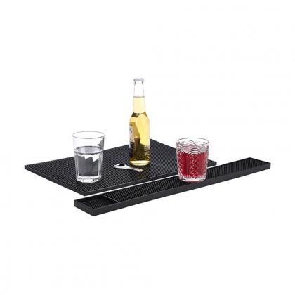 Tapis de bar en caoutchouc noir 59.5x8cm