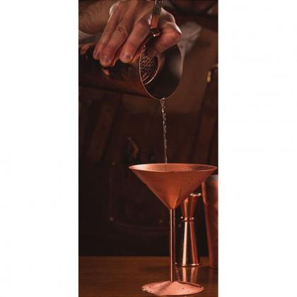 Verre martini 240 ml en métal finition cuivre