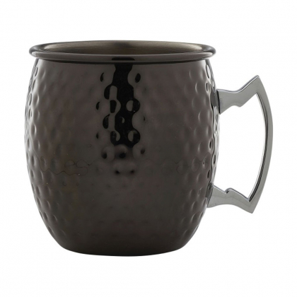 "Barrel Mug martelé en métal finition ""Gun Metal"" 550ml"