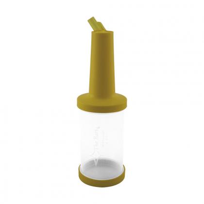 Store n pour débit rapide 1L plastique transparent, bec, col et bouchon jaunes