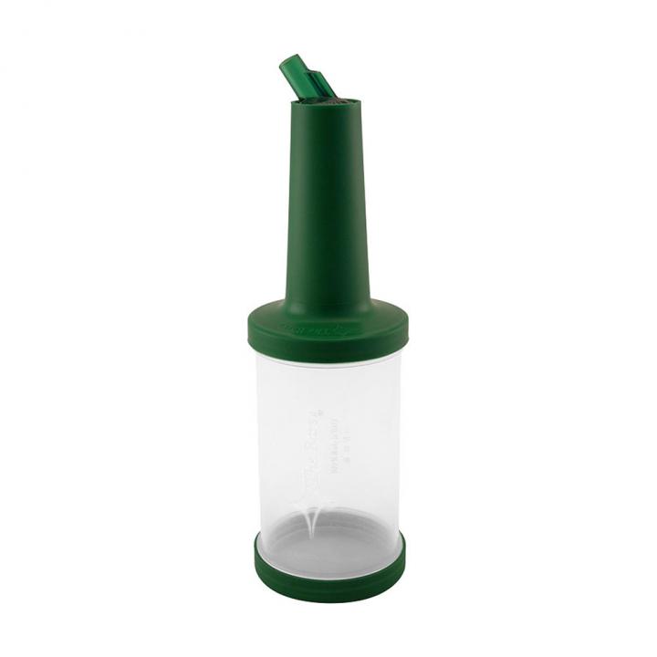 Store n pour débit rapide 1L plastique transparent, bec, col et bouchon verts