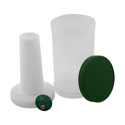 Store n pour standard 1L en plastique transparent, bec et bouchon verts