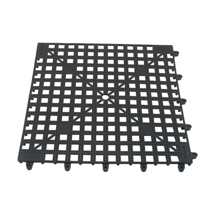 Tapis clipsable pour stockage verres 33 x 33 cm en plastique noir